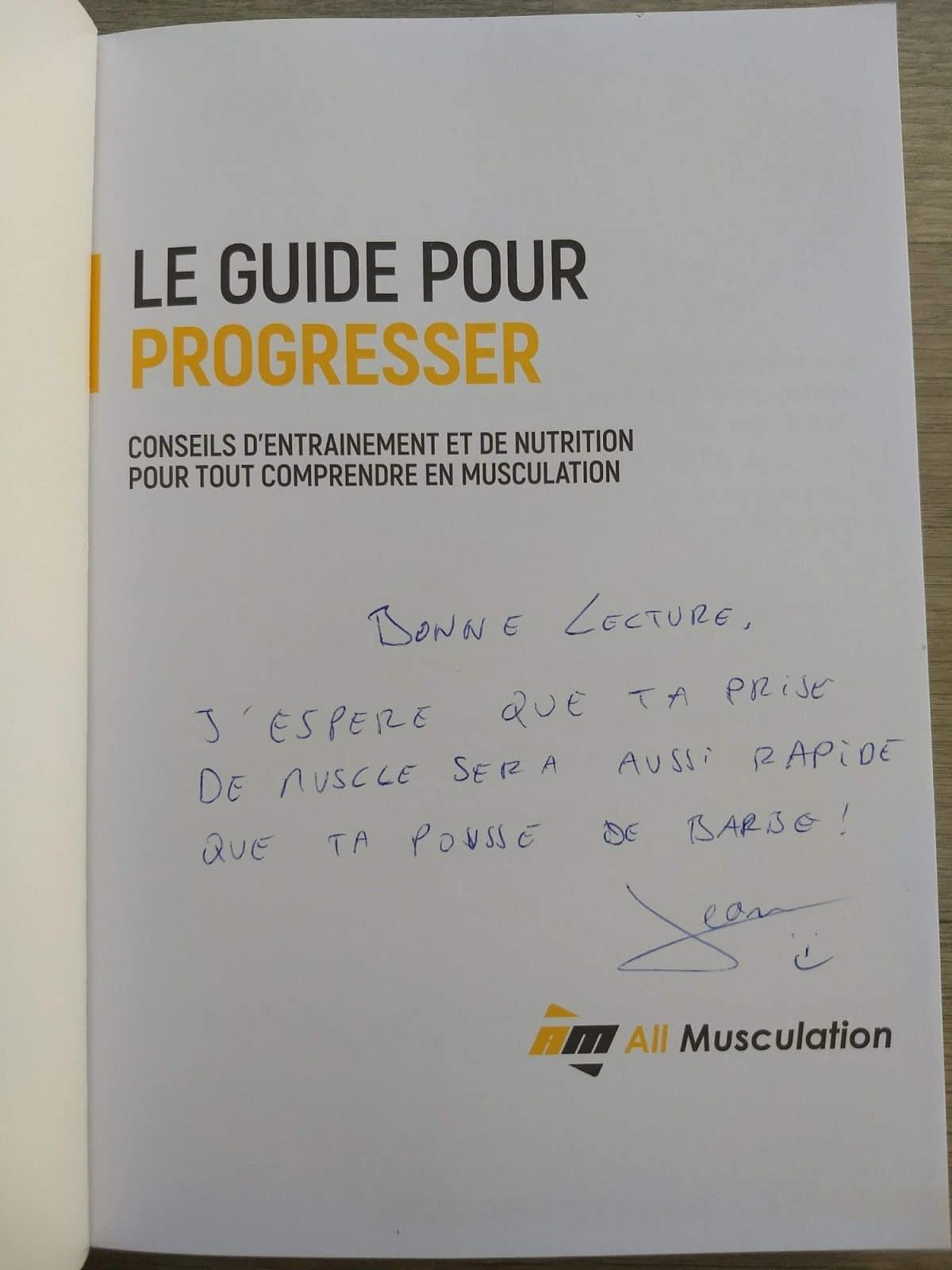 Livre Le guide pour progresser Jean All Musculation avis