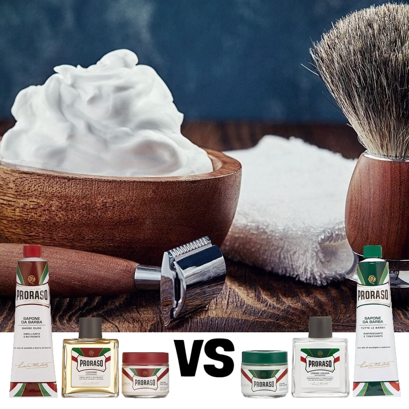 Proraso Red vs Green
