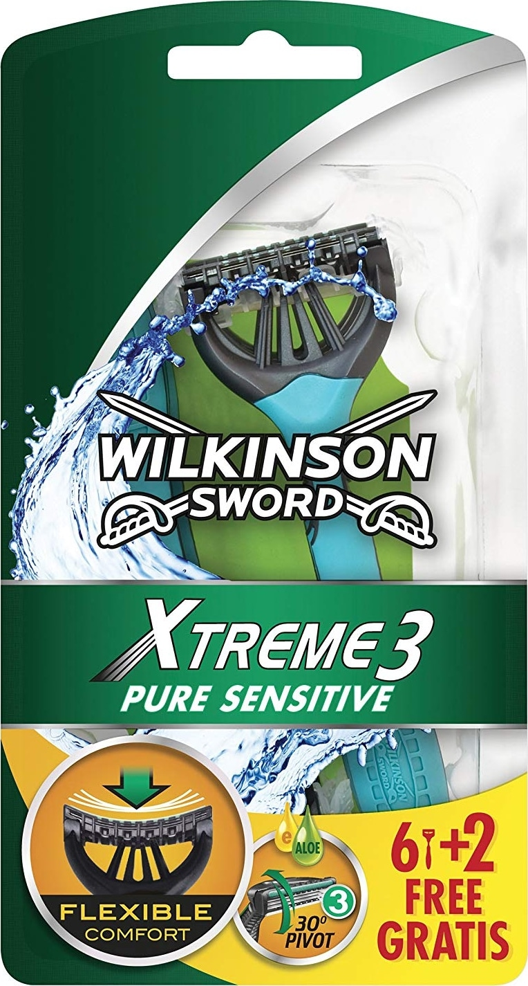 Rasoir crâne Wilkinson Xtreme 3 Pure Sensitive