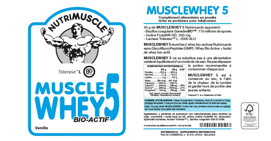 Nutrimuscle whey composition
