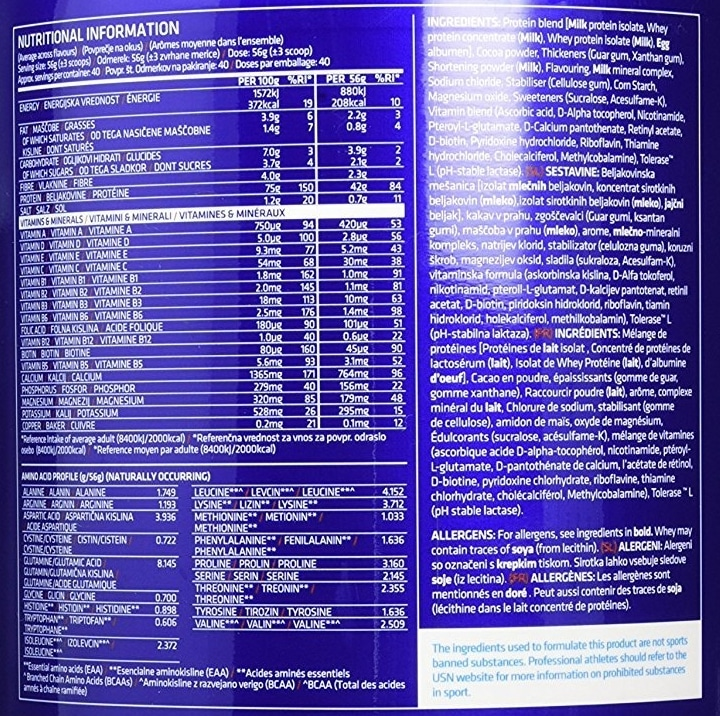 USN Pure GF1 Protein composition