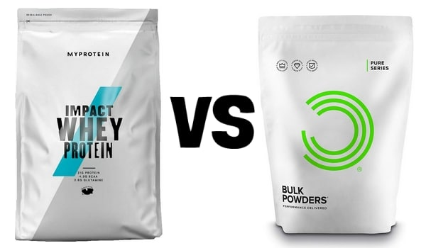 Whey MyProtein VS Bulk Powders