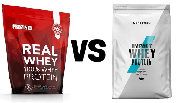 Whey Prozis VS MyProtein