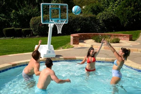 jeux piscine basket