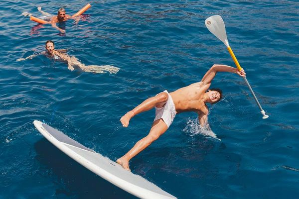 comment faire stand up paddle tomber